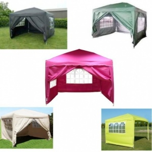 3M x 3M Garden Patio Pop Up Gazebo - Assorted Colours
