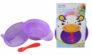 First Step Travel Feeding Bowl and Spoon Set