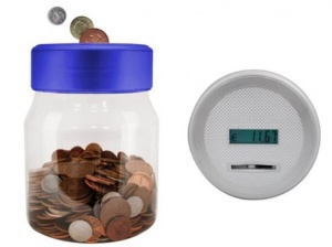 Digital Euro Coin Counting Jars