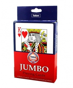 Plastic Coated Jumbo Playing Cards