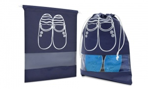 AQ Waterproof Shoe Storage Bags for Travel Large - Navy