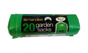 Tidyz 50L Tie Handle Extra Strong Garden Sacks