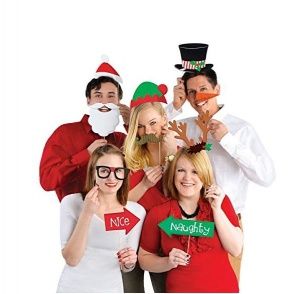 13 pc christmas party photo props