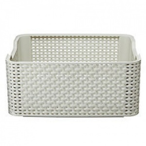 Curver White Rattan Style Storage Box Medium