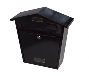 Chester Wall Mounted Black Postbox