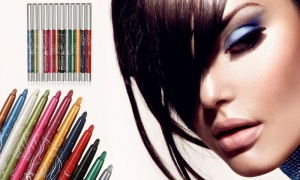 12 Colors Eyeshadow Eyebrow Lip Eye Eyeliner Pen Pencil