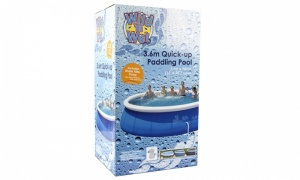 12ft Quick-up Paddling Pool With 300GPH Pump