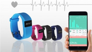 Bas-Tek Pulse 10 in 1  Bluetooth Sports Activity Bracelet with Heart Rate Monitoring