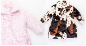 Animal Print Baby Faux Fur Jackets