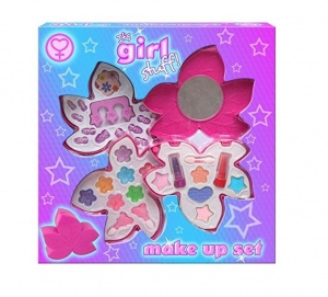 Its Girl Stuff Play Make Up Set in Pretty Shaped Case - TY215