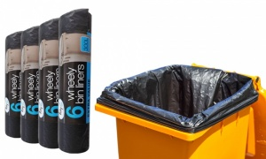 Extra Large Wheelie Bin Liners Waste Rubbish Bags 300L