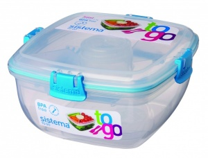 Sistema Klip It BPA Free 'Salad To Go' Lunch Box 1.1 Litre