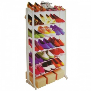 21 Pair Shoe Rack Stand - 7 Tier Storage