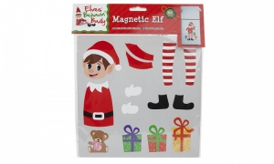 23 X 23CM MULTI SECTION ELF PRINTED MAGNETIC SHEETS IN BAG