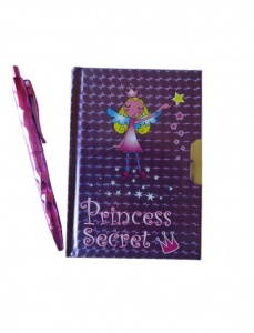 Angel Princess Locable Mini Diary and Pen Set