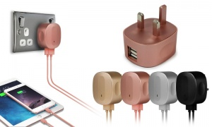 Apple Coloured Plugs and Cables
