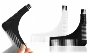 3 in 1 Beard Shaper Comb And Brush