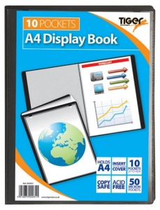 10 Pockets A4 Display Book