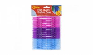 30Pc 7 Coil Plastic Clothes Pegs