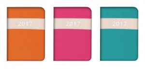 2017 Week To View Vibrant Leatherette with Stiched Pocket Diary