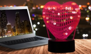 Colour Changing 3D HEART Night Light