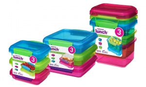 Sistema Lunch Food Storage Containers with contrasting Clips