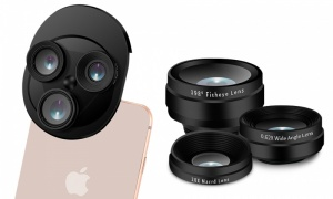 Aquarius 3 in 1 Camera lens for All Mobile Phone With Fisheye Lens and Wide Angle