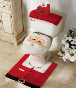 3pcs Christmas Toilet Seat Cover Set