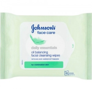 Johnson's Daily Essentials Facial 25 Wipes Combination Skin