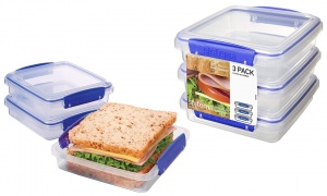 Sistema Sandwich Box With Food Storage Containers