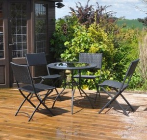 Rattan Effect 5 Piece Garden Patio Set