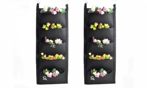 Outdoor 5 Pocket Hanging Wall Planter