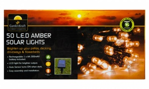 50 LED Solar Lights - Amber
