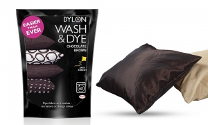DYLON Wash & Dye Fabric Dye, Chocolate Brown 400g
