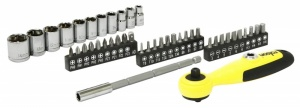 Rolson 43 Piece Screwdriver Set With Ratchet Handle (28490)