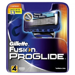 Gillette Fusion Proglide Replacement Cartridge - Pack of 4
