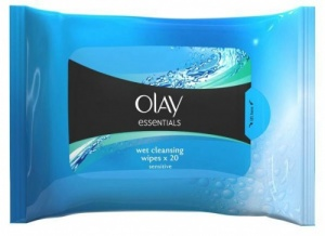 Olay Essentials Wet Cleansing Wipes for Sensitive Skin - Pack of 20