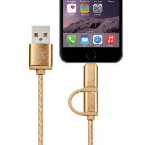 FX Powabud 2 in 1 USB Data Cable