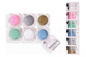 BELLAPIERRE 6-STACK GLITTER POWDER - With and Without Eyeshadow Brush
