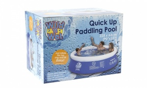 7.5ft Quick-up Paddling Pool With Filter Pump