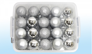 70 Christmas Baubles  in a Storage Box