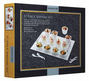 Kitchen Craft 17pc Glass Appetiser gift Set