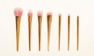 7 Piece Make Up Brush Set Rose Gold TS0713