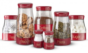 Sabichi Red 7pc Canister Set