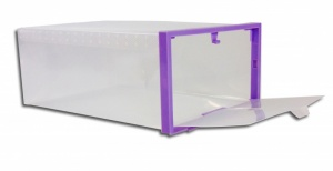 Set of 2 Purple Shoe Boxes- (3983M)