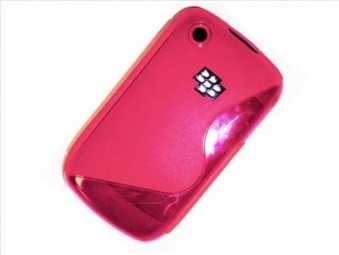 Pink Silicone S Line Gel Case Cover For BlackBerry Curve 8520