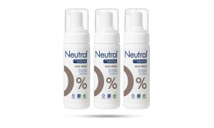 Neutral 0% For sensitive skin Facial Wash Lotion 150ml Pack Of  3