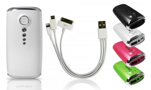 FX PowerBank 5600mah with LED Torch and 3 in 1 Cable