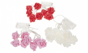 Battery Operated Light Up Eva Rose Flower LED Lights Assorted