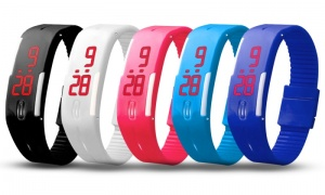 Kids rubber led digital sports watch